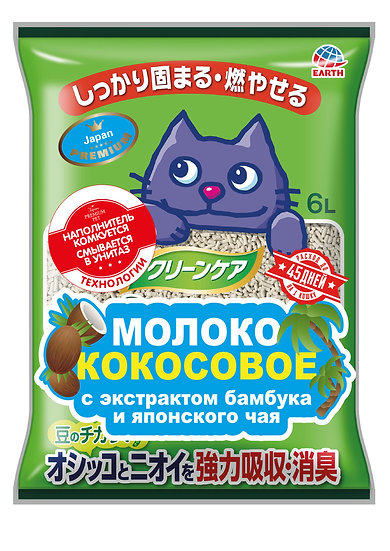 Молоко кокосовое. Наполнитель с экстрактом бамбука и японского чая, 6 л