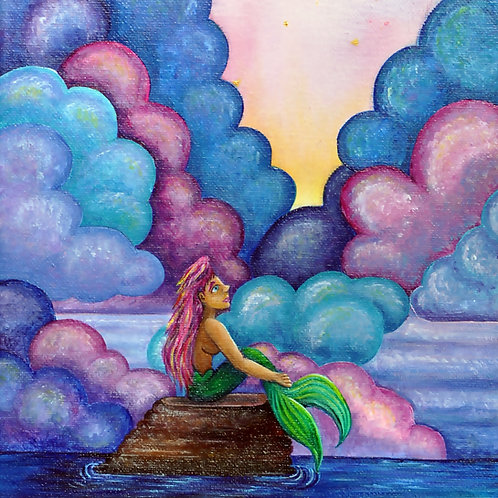 Mermaid Dreams ORIGINAL Canvas