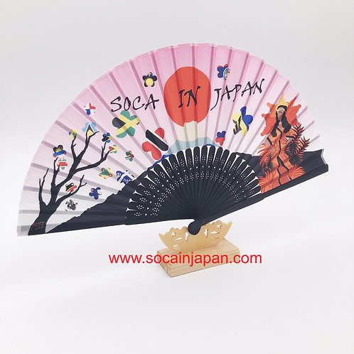 Soca in Japan Silk Fan
