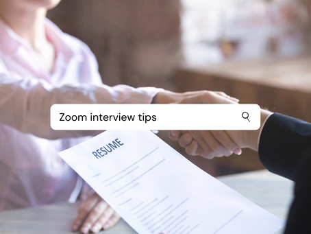 Zoom Interview Tips