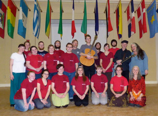 Footworks teaches Residency with the Berea College Country Dancers