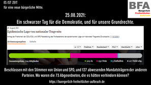 Anlässlich des Bundestagsbeschlusses zur Fortsetzung des pandemiebedingten Ausnahmezustandes