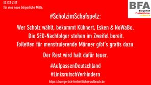 #ScholzimSchafspelz #1