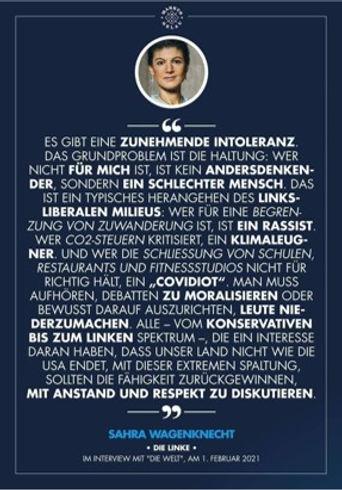 Zitat Sahra Wagenknecht