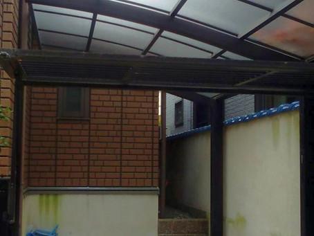 カーポートの屋根ポリカ交換(箕面市)