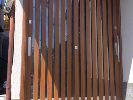 【施工事例】玄関引き戸と門扉を同じデザインで素敵に(箕面市)