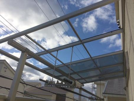 台風被害の補修工事に追われています(大阪府北摂地域)