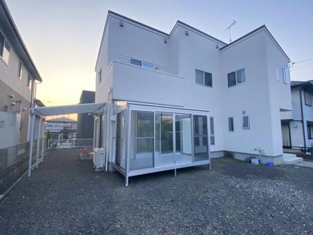 住宅新築時の外構テラス屋根とサンルーム設置(東近江市)