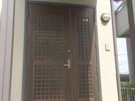 【施工事例】古い木製ドアを交換、素敵な玄関に変身(名古屋市)