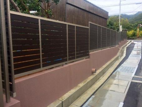 【施工事例】家の周りに風が通るルーバーフェンス設置(箕面市)