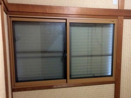 【施工事例】借家のドアリニューアル、窓は二重サッシに(箕面市)