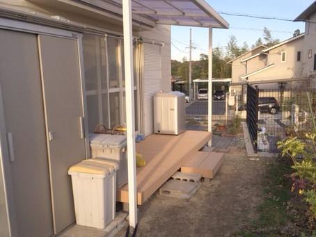 【施工事例】奈良県生駒市にてワンちゃんが遊べるリウッドデッキ設置