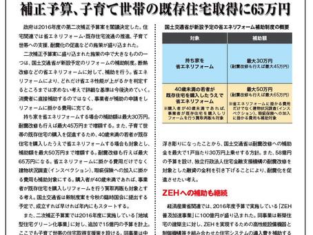【ニュース】省エネリフォームに補助金!
