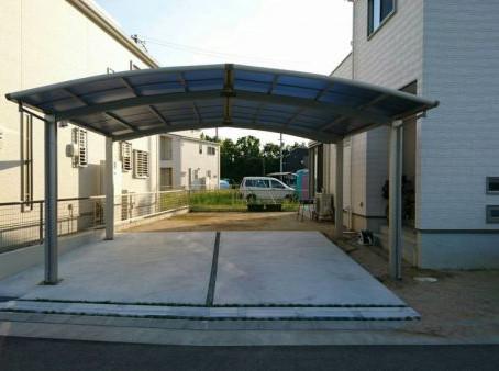 【施工事例】2台停められる広々カーポート(川西市)
