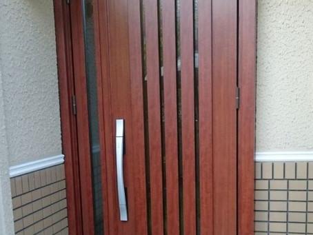 【施工事例】ドア交換:タッチキーで便利に(奈良県生駒市