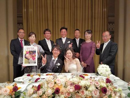 社員の結婚式に出席しました