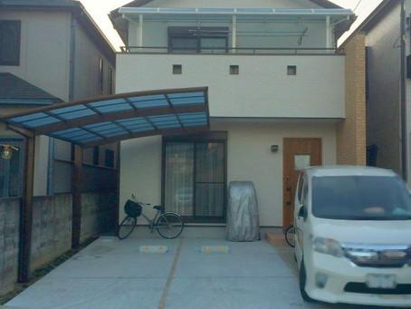 【施工事例】川西市T様邸にてカーポートとベランダ屋根取付