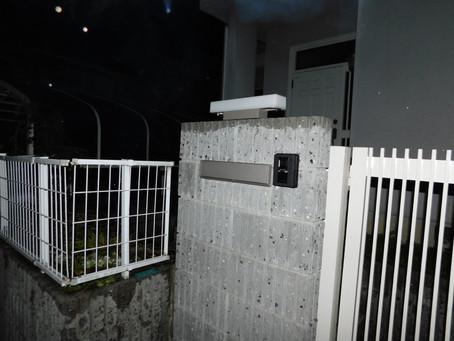 【施工事例】門扉にインターホンと街灯を設置(箕面市)