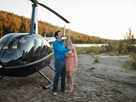 You've Got Me Flying High | Helicopter Proposal