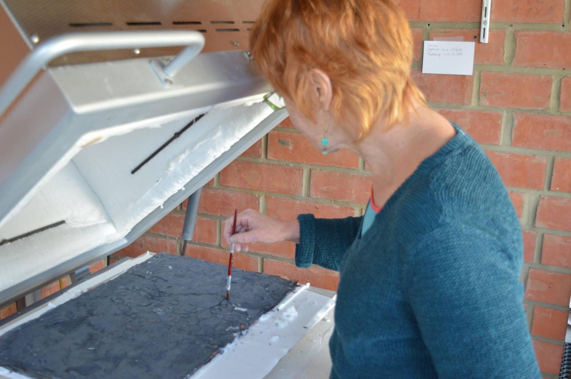 Priparing the kiln