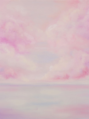 """Pink Scape, 54"""" x 54"""""""