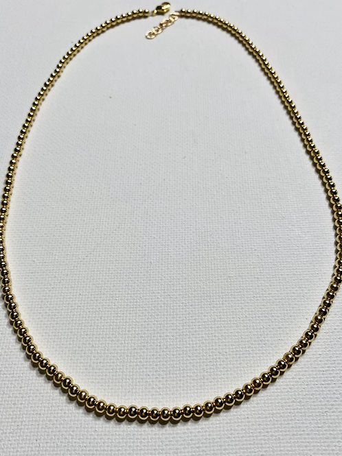 3MM 14K gold filled beaded necklace