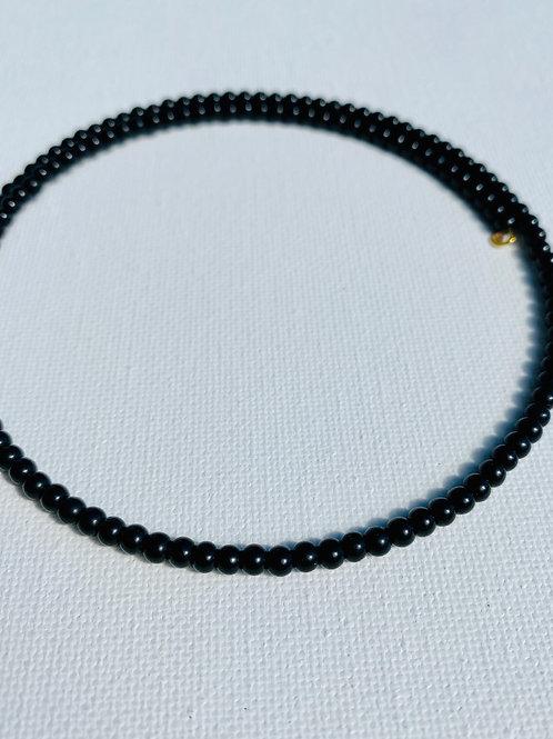 3mm Black Glass Choker