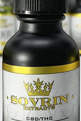 THC/CBD 1:1 Tincture, 30ml bottle with dropper
