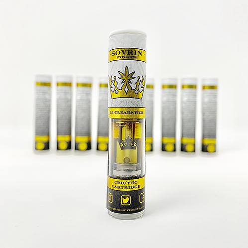 1:1 (90+%)THC/Full Spectrum CBD  Vape Pen Cartridge Clearstick V2