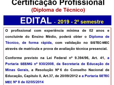 Diploma de Curso Técnico - Certificação Técnica
