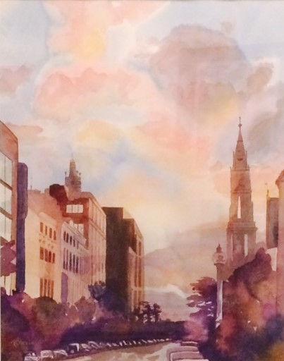 Boston Sunrise 16x20 watercolor (2).jpg