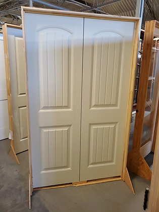 Interior Santa Fe 2 Panels Plank Smooth Double Door
