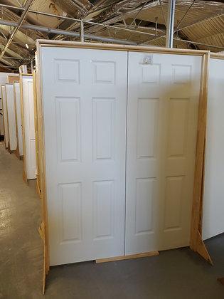 Interior 6 Panels Colonist Textured Double Door