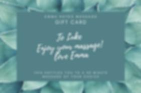 Green Flower Massage Gift Certificate co