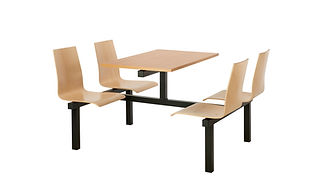 Fast Food Canteen Unit with wooden seats
