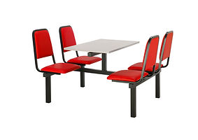 Fast Food Canteen Unit with perforated metal seats