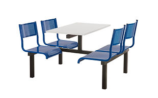 Fast Foo Canteen Dining Unit with metal perforated seats