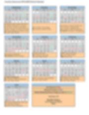 Country Classroom School Calendar 2019-2