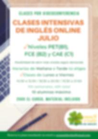 Mas info Clases intensivas online julio.