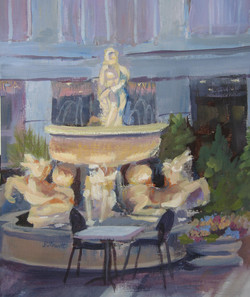 Park Place Fountain sketch