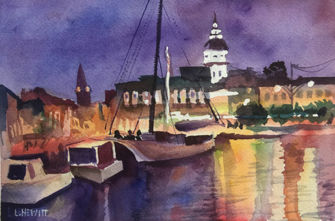 City Dock at Night