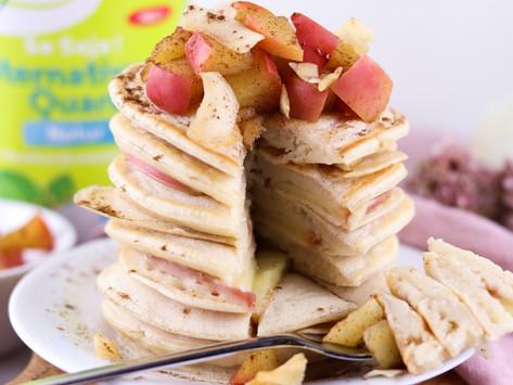 "vegane Apfel-""Quark"" Pancakes / vegan apple ""curd"" pancakes"