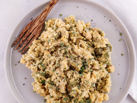 vegan egg salad/ Veganer Eiersalat