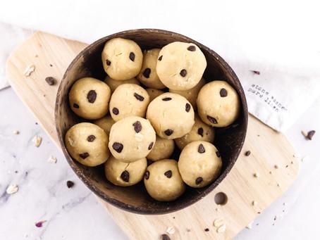 peanut buttercookie dough balls