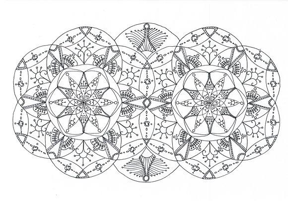 Mandala à colorier - Yeux de chouette (à télécharger)