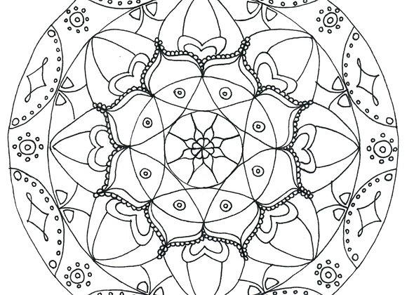 Mandala à colorier - Lien