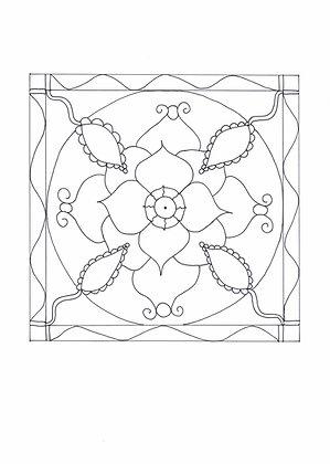 Mandala à colorier - Éclosion (à télécharger)