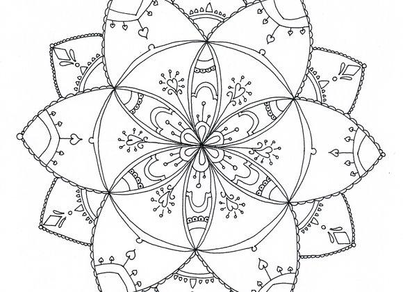 Mandala à colorier - Fleur