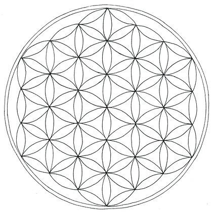 Mandala à colorier - Fleur de vie