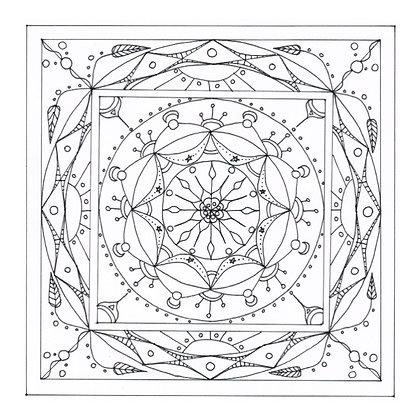 """Carte postale simple à colorier - """"Cosmos"""""""
